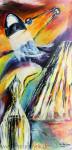 Künstliches Licht - Lichtvolle Kunst 1Acryl auf Leinwand Größe: 50x100