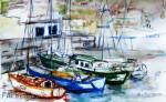 Hafen Vale Gran ReyAquarell auf PapierGröße 38x56