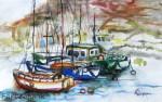 Ansicht Hafen Vale Gran ReyAquarell auf PapierGröße 38x56