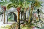 PalmenhainAquarell auf PapierGröße 38x56
