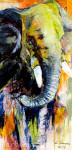 Elefant 1Acryl auf Leinwand40x80