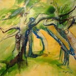 Tanz der BäumeAcryl auf LeinwandGröße 100 x 100 cm