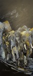 ElefantösAcryl auf Leinwand