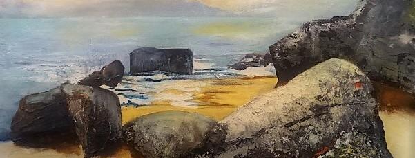 Am StrandAcryl auf LeinwandGröße: 60x100