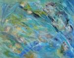 Blauer LachsAcryl auf LeinwandGröße: 100x80