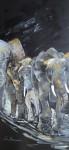 ElefantösAcryl auf LeinwandGröße: 70x150